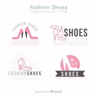 Collection de logos de chaussures de mode