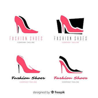 Collection de logos de chaussures de mode