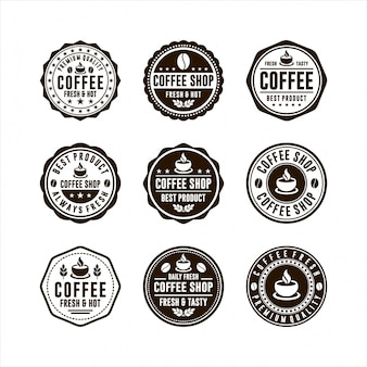 Collection de logos de coffee shop badge