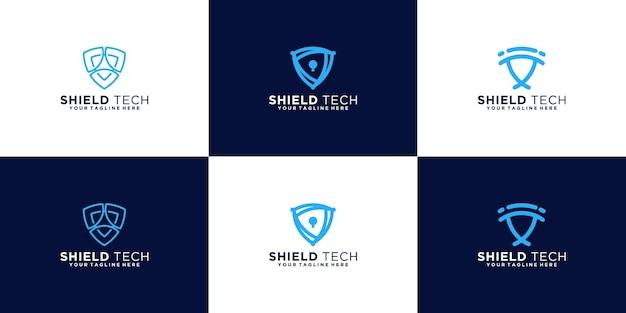Collection de logos de conception de bouclier de sécurité