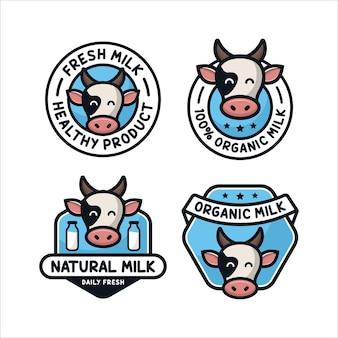 Collection de logos de conception de lait frais