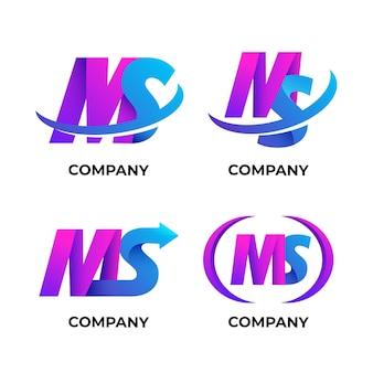 Collection de logos dégradé ms