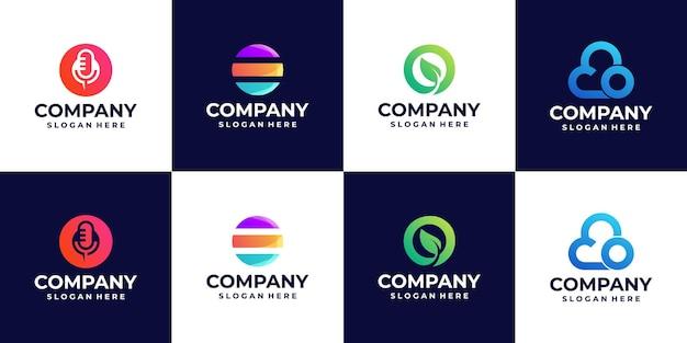 Une collection de logos dégradés de lettre o