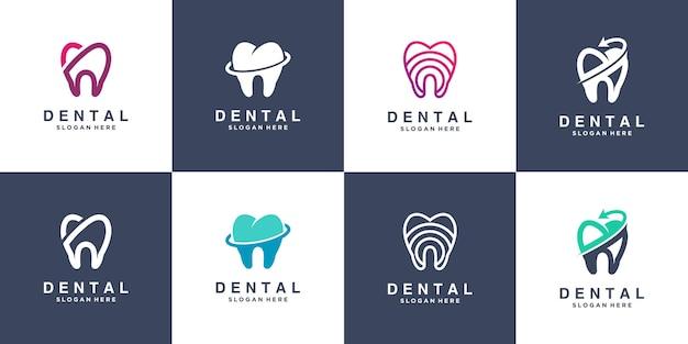 Collection de logos dentaires pour les entreprises vecteur premium