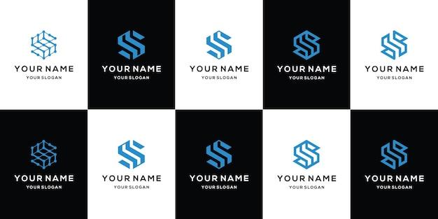 Collection de logos design plat