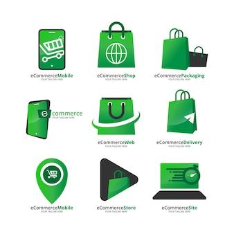 Collection de logos e-commerce dégradés