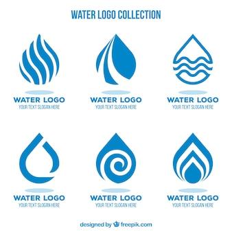 Collection de logos de l'eau pour les entreprises dans un style plat