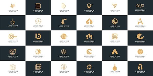 Collection de logos d'entreprise abstraite