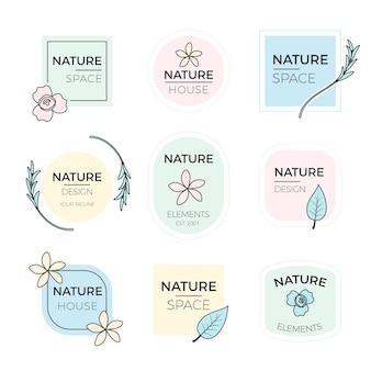 Collection de logos d'entreprise dans un style minimal