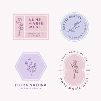 Collection de logos d'entreprise naturels dans un style minimal