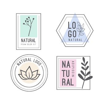 Collection de logos d'entreprise de style minimal naturel