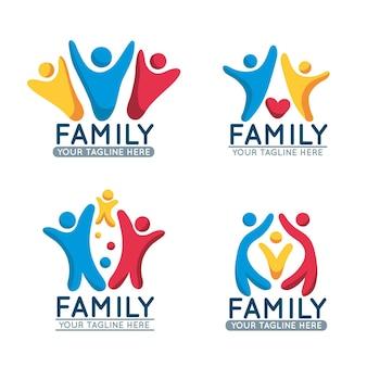 Collection de logos de famille