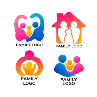 Collection de logos de famille
