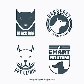 Collection de logos fantastiques avec des chiens