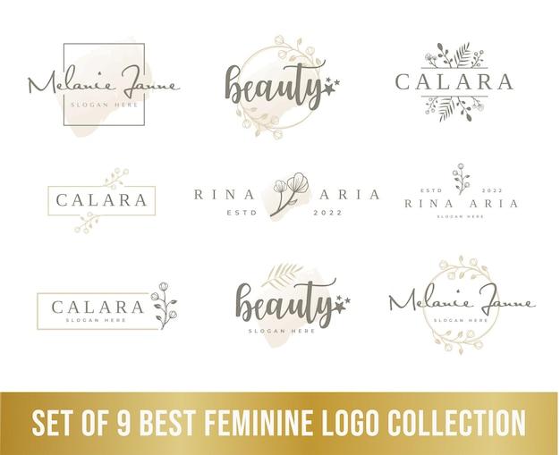 Collection de logos féminins de luxe parfaite pour le logo d'une entreprise de beauté