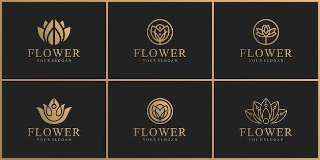 Collection de logos de fleurs naturelles