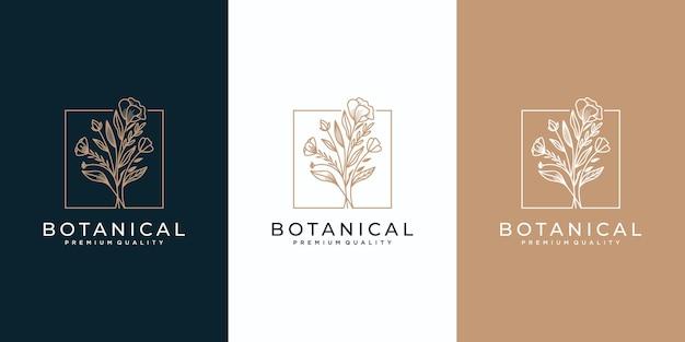 Collection de logos floraux féminins