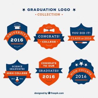 Collection de logos de graduation cru