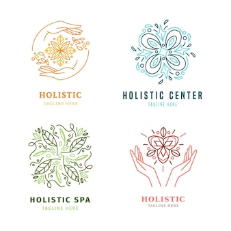 Collection de logos holistiques dessinés à la main