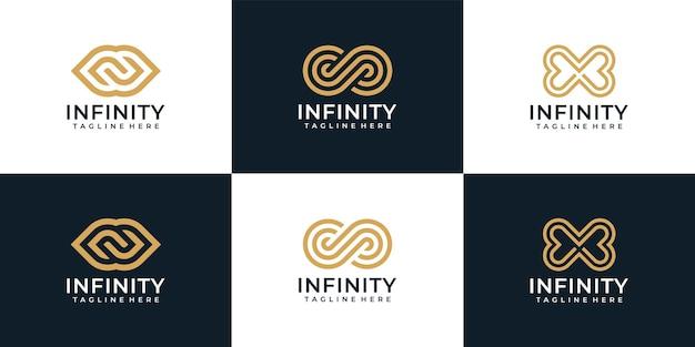 Collection de logos illimités monogramme à boucle infini