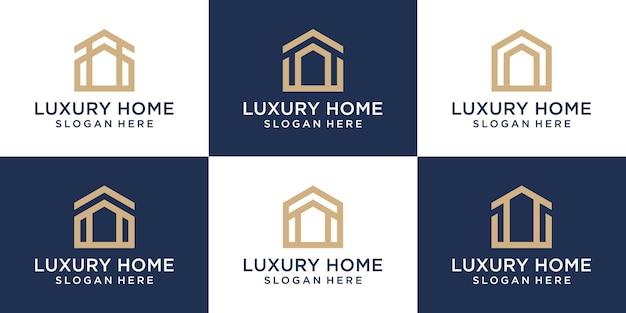 Collection de logos immobiliers de maison de luxe créative