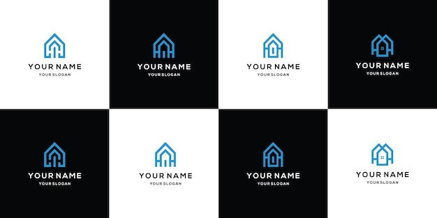 Collection de logos immobiliers modernes