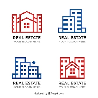 Collection de logos immobiliers
