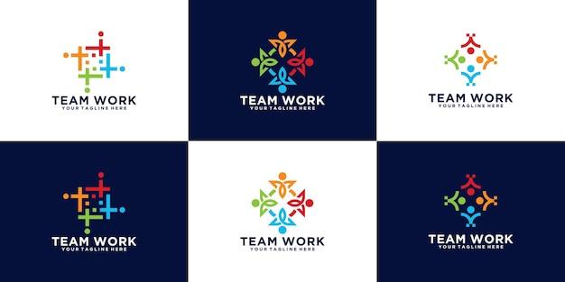 Une collection de logos inspirants pour les équipes de travail, les communautés, les groupes et les groupes de personnes