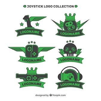Collection de logos de joystick dans un style plat
