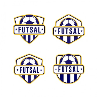 Collection de logos de ligue de coupe de futsal