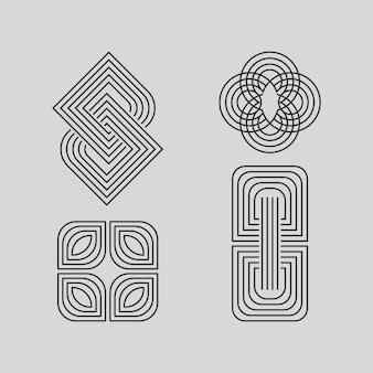Collection de logos linéaires abstraits