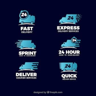Collection de logos de livraison pour les entreprises