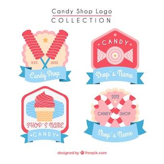 Collection de logos de magasin de bonbons pour les entreprises