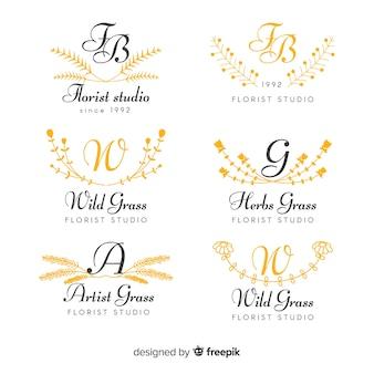 Collection de logos de mariage monogramme