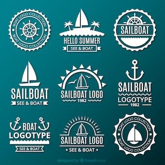 Collection de logos marins