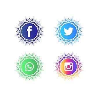 Collection de logos de médias sociaux