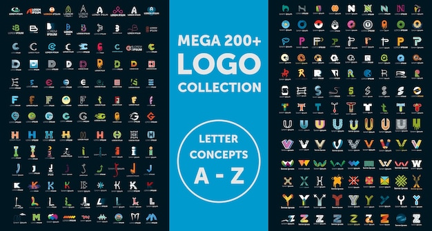 Collection De Logos Mega Vecteur Premium