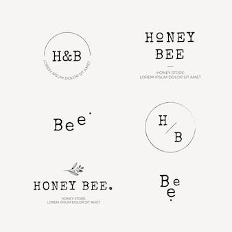 Collection de logos de miel