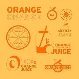 Collection de logos minimale en deux couleurs