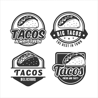 Collection de logos de modèles de tacos