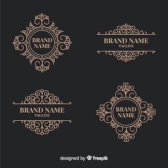 Collection De Logos Ornementaux Vintage Vecteur Premium
