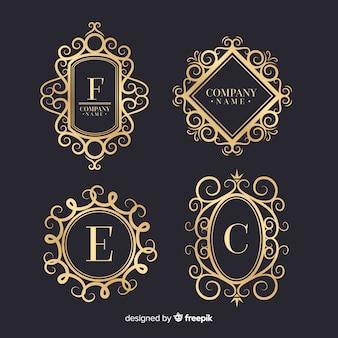 Collection de logos ornementaux vintage