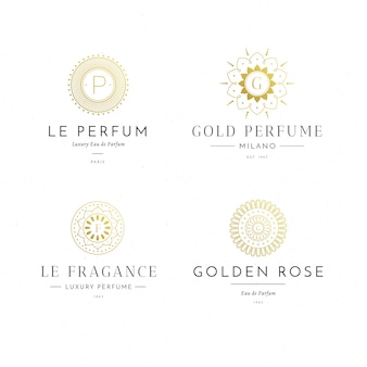 Collection de logos de parfums de luxe