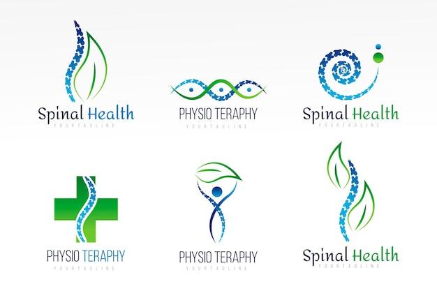Collection de logos de physiothérapie créative