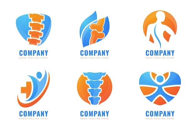 Collection de logos de physiothérapie en dégradé