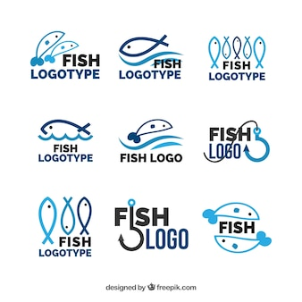 Collection de logos de poissons pour l'image de marque des entreprises