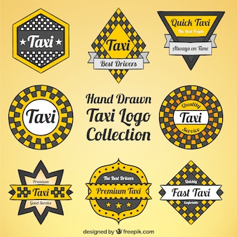 Collection de logos pour le service de taxi