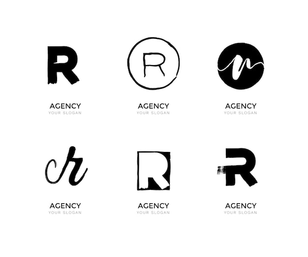 Collection de logos r peints à la main