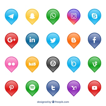 Collection de logos de réseaux sociaux