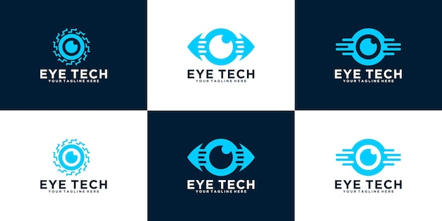 Une collection de logos see and vision eye technology data